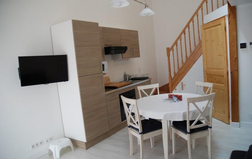 Location de vacances - Villa à Rochefort - Appartement  2 environ 40m2 séjour