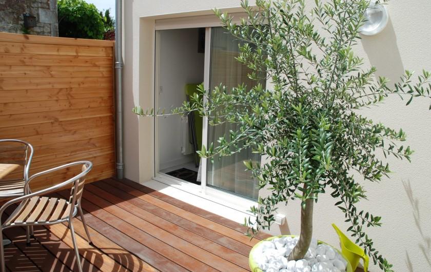 Location de vacances - Villa à Rochefort - Appartement 2 Sa terrasse