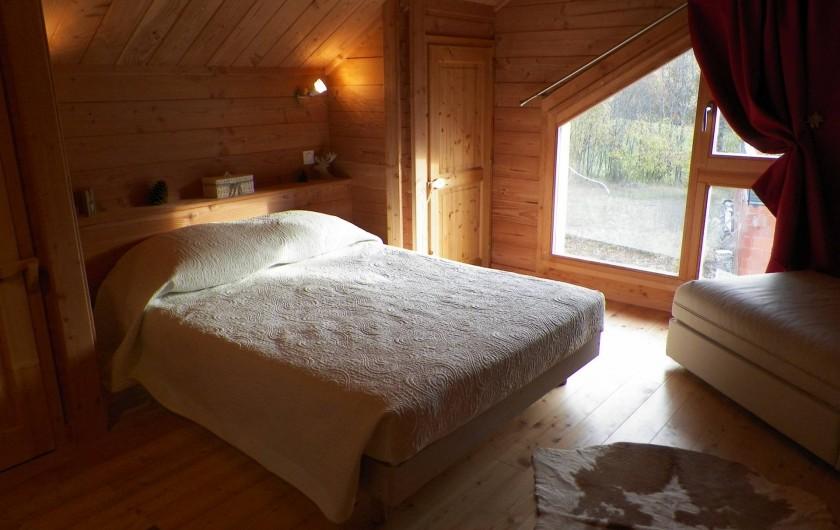 Location de vacances - Chalet à Saint-Jean-Saint-Nicolas - Chambre 2 à l'étage