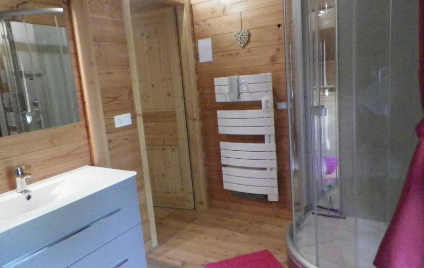 Location de vacances - Chalet à Saint-Jean-Saint-Nicolas - Salle d'eau à l'étage