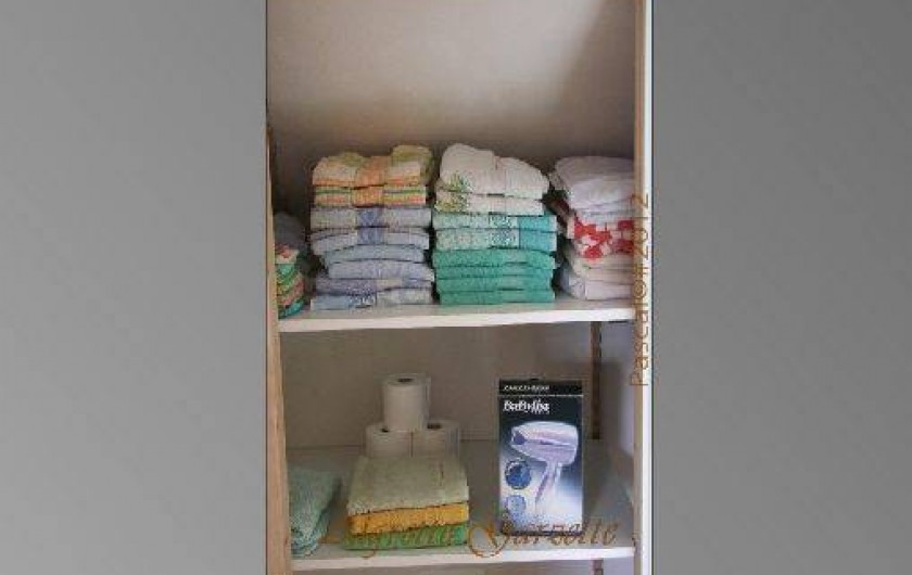 Location de vacances - Gîte à Pleudihen-sur-Rance - Placard, Serviettes de toilette Draps de bain Gants de toilette
