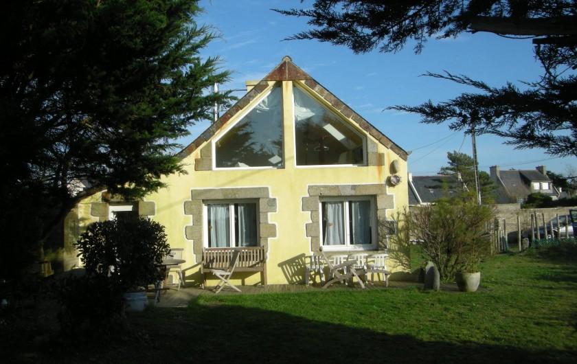 Location de vacances - Villa à Portsall - Face à la mer, toutes fenêtres ont vue sur mer !