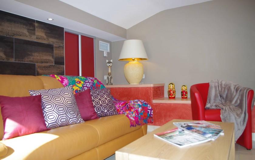 Location de vacances - Gîte à Cerbère - Mezzanine avec salon détente