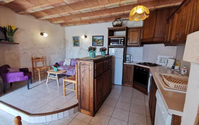 Location de vacances - Gîte à La Livinière - terrasse Les Amandiers