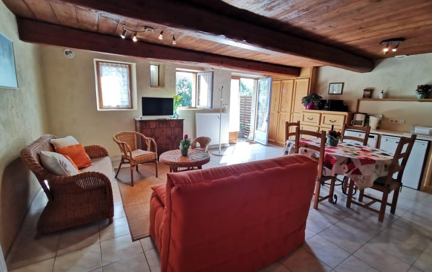 Location de vacances - Gîte à La Livinière - salon Les Amandiers