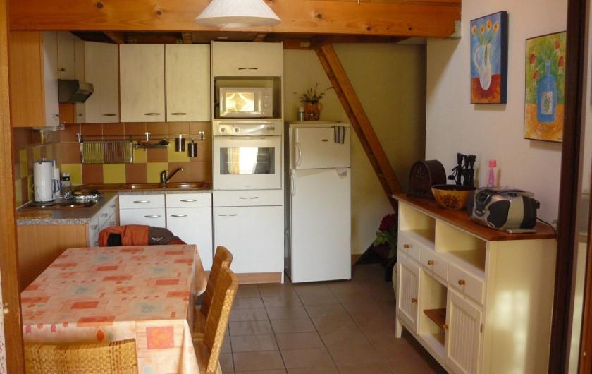 Location de vacances - Villa à Le Barcarès - Séjour cuisine