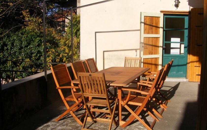 Location de vacances - Maison - Villa à Sorède - La terrasse