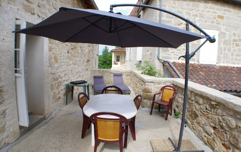 Location de vacances - Gîte à Faycelles - Terrasse privative