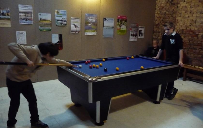 Location de vacances - Gîte à Mons-Boubert - Partie de billard ....