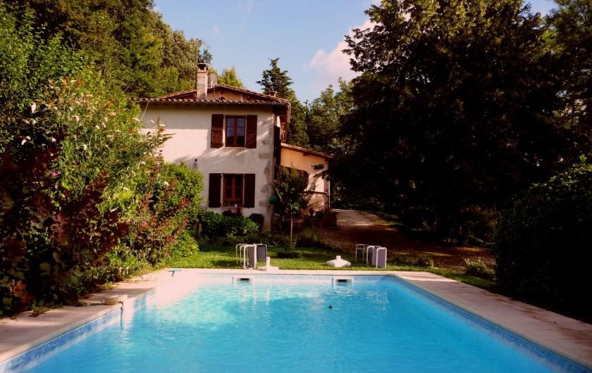 Location de vacances - Villa à Marsolan - La piscine en fin d'après-midi