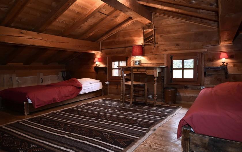 Location de vacances - Chalet à Chamonix-Mont-Blanc - Chambre en mezzanine 6/6