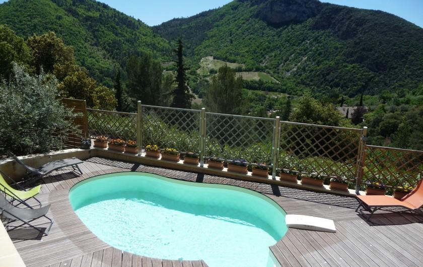 Location de vacances - Gîte à Aubres - Vue piscine