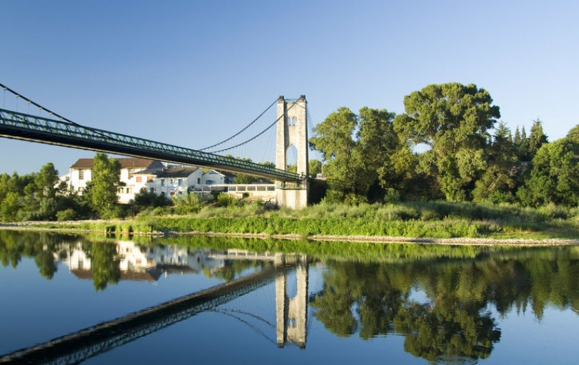 Location de vacances - Villa à Saint-Martin-d'Ardèche - le Pont de Saint Martin entre Ardèche et Gard