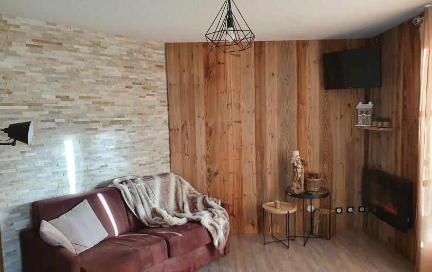 Location de vacances - Appartement à Gérardmer - coin salon avec télévision