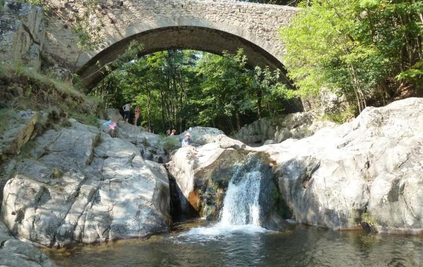 Location de vacances - Camping à Saint-Julien-du-Gua - Un des trous d'eau de la rivière proche