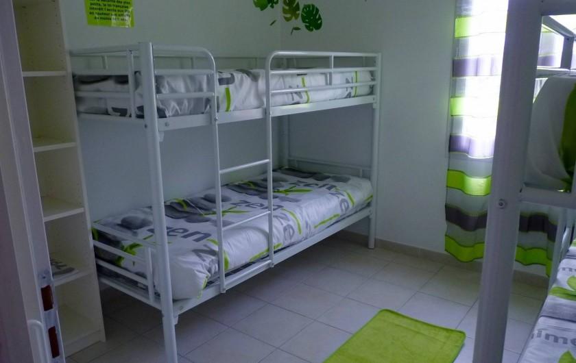 Location de vacances - Villa à Rousson - Chambre des enfants (2 x 2 lits superposés de 80 cm).
