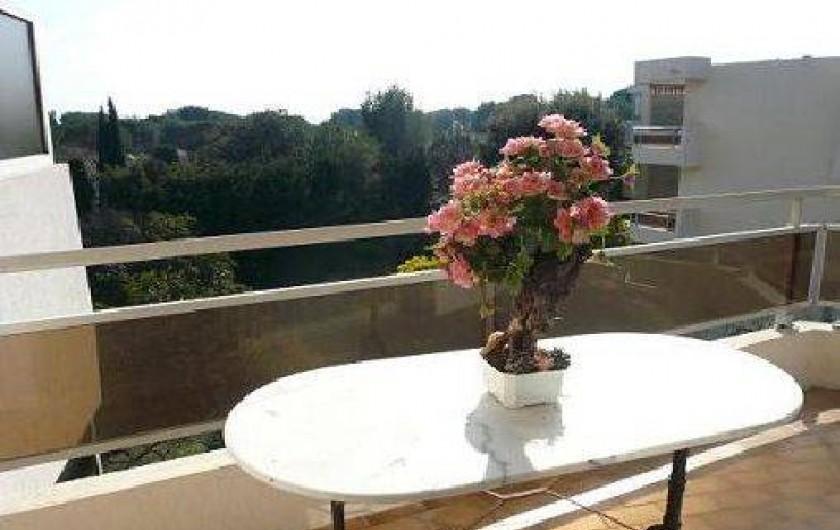 Location de vacances - Appartement à La Ciotat - Terrasse vue dégagée plein sud