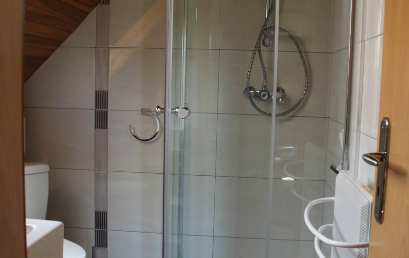 Location de vacances - Appartement à Oberhergheim - Douche/wc