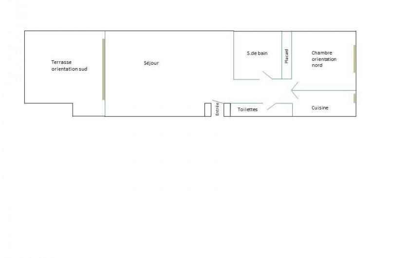 Location de vacances - Appartement à Arcachon - Plan de l'appartement