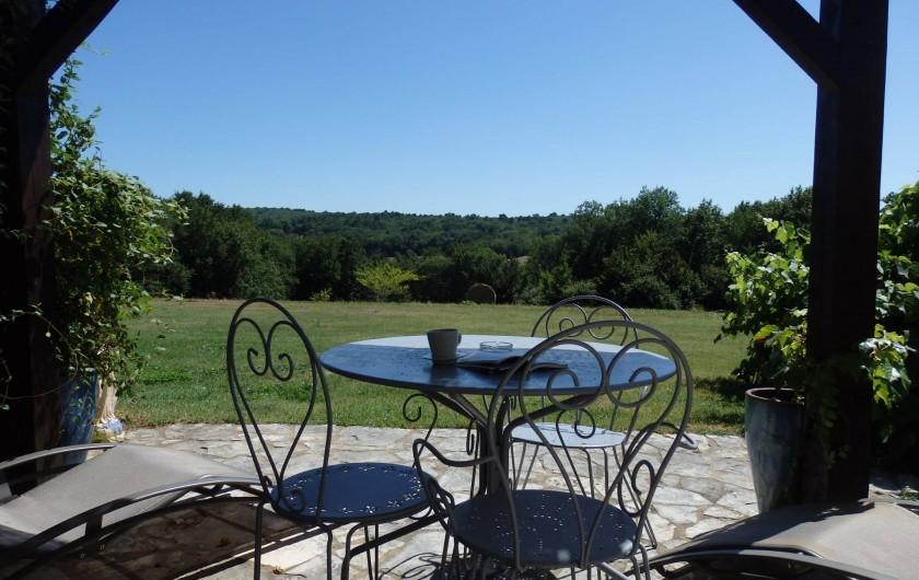 Location de vacances - Gîte à Bouillac - Vue de la terrasse du Figuier
