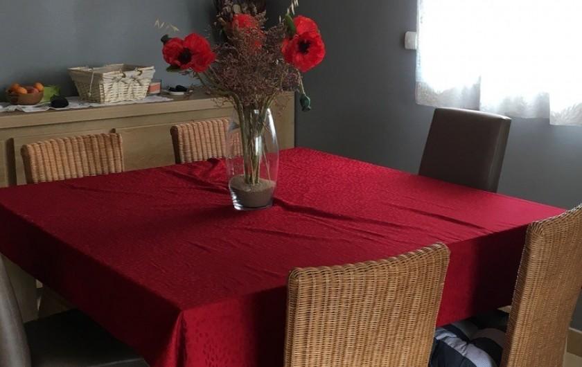 Location de vacances - Appartement à Valras-Plage - Coin repas salon