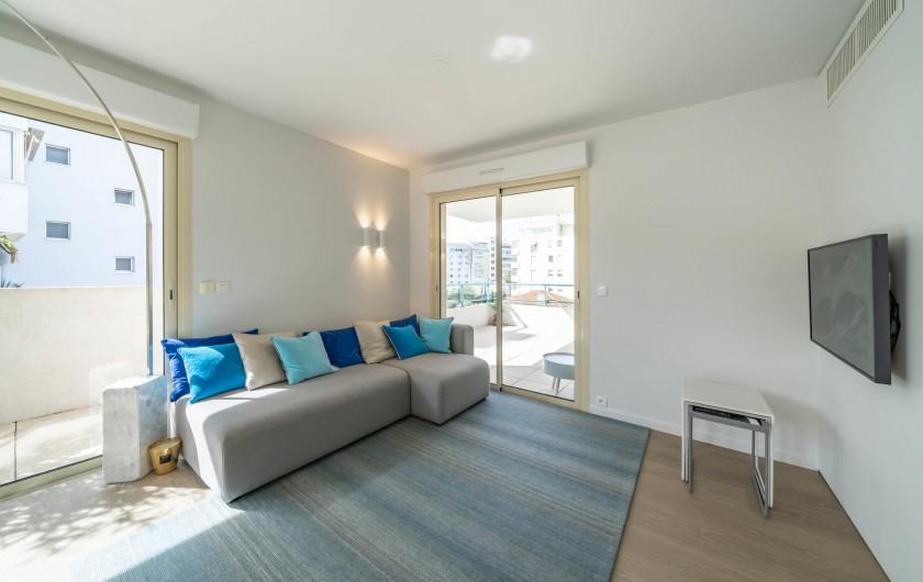 Location de vacances - Appartement à Cannes - Séjour
