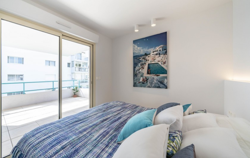 Location de vacances - Appartement à Cannes - Chambre d'ami (lit double ou 2 lits simple)