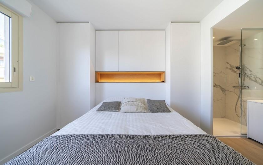 Location de vacances - Appartement à Cannes - Chambre Parental lit double