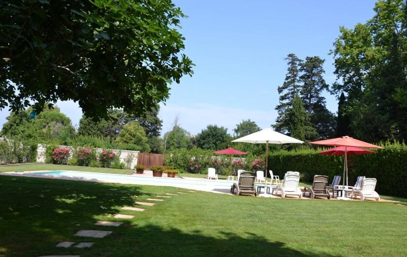 Location de vacances - Maison - Villa à Bessan - Arrival at the pool