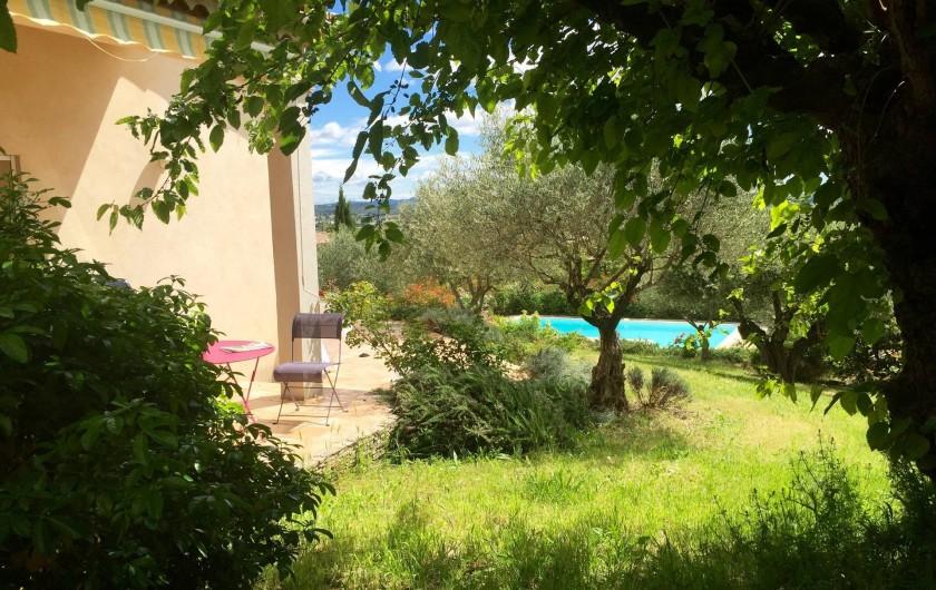 Location de vacances - Villa à Alès - Vue jardin