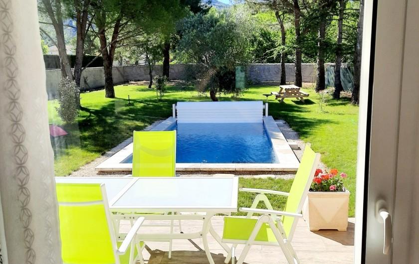 Location de vacances - Villa à Taillades - Terrasse