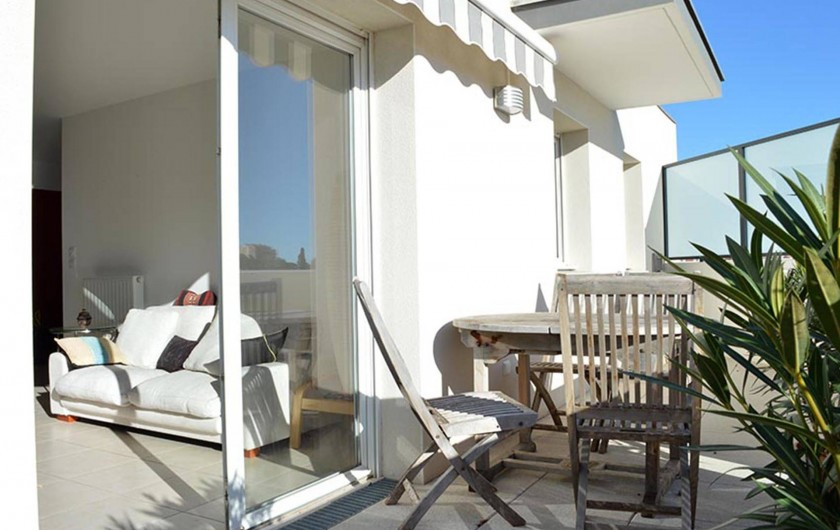 Location de vacances - Appartement à Banyuls-sur-Mer - Terrasse de 15m2. Accès depuis le séjour