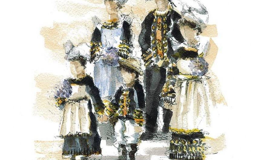 Location de vacances - Villa à Névez - Costumes folkloriques à la Fête des Fleurs d'Ajonc de Pont Aven