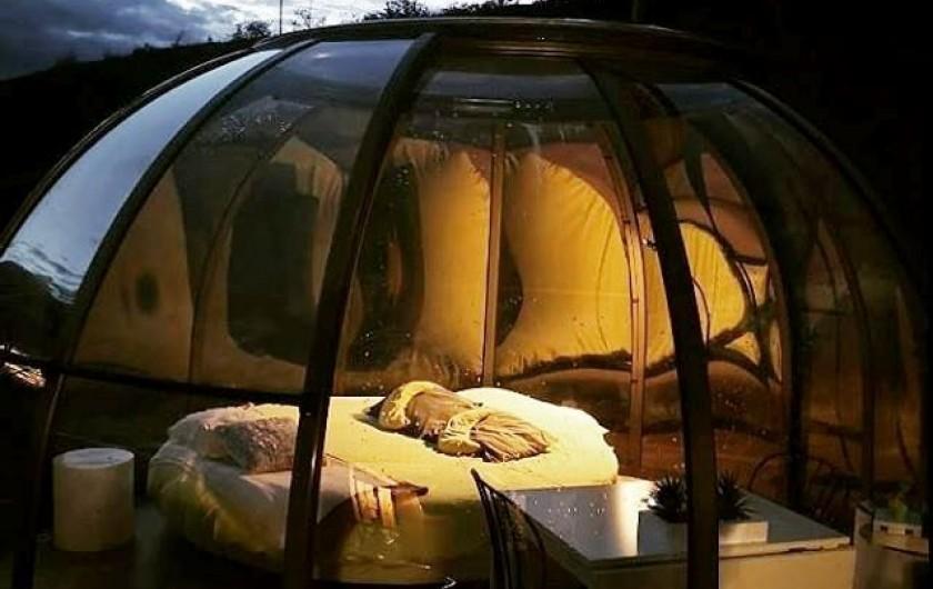 Location de vacances - Insolite à Labastide-de-Penne - le dôme confort de nuit