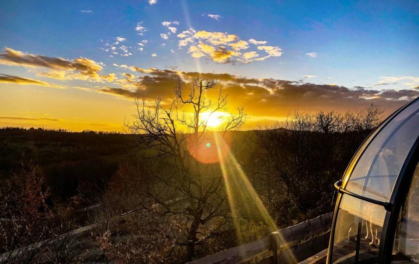 Location de vacances - Insolite à Labastide-de-Penne - coucher de soleil sur le dôme confort