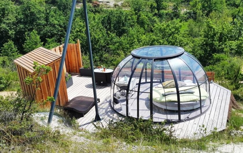 Location de vacances - Insolite à Labastide-de-Penne - Dôme confort