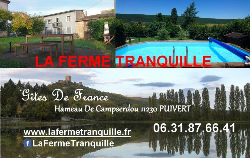 Location de vacances - Gîte à Puivert - Carte De Visite