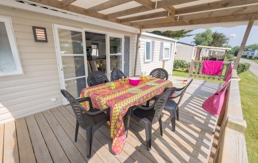 Location de vacances - Camping à Guérande - Mobil-home LUXE 3 chambres 2 salles de bains 2wc