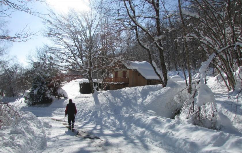 Location de vacances - Chalet à Saint-Georges-d'Hurtières - Ballade en raquette sur les hauts de St Georges