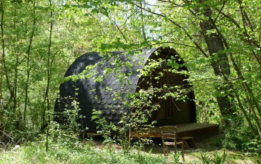 Location de vacances - Gîte à Mollans-sur-Ouvèze - Le Bungalow  au printemps