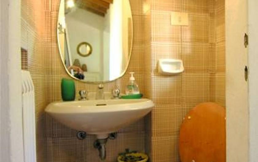 Location de vacances - Villa à La Spezia - Toilet en haut