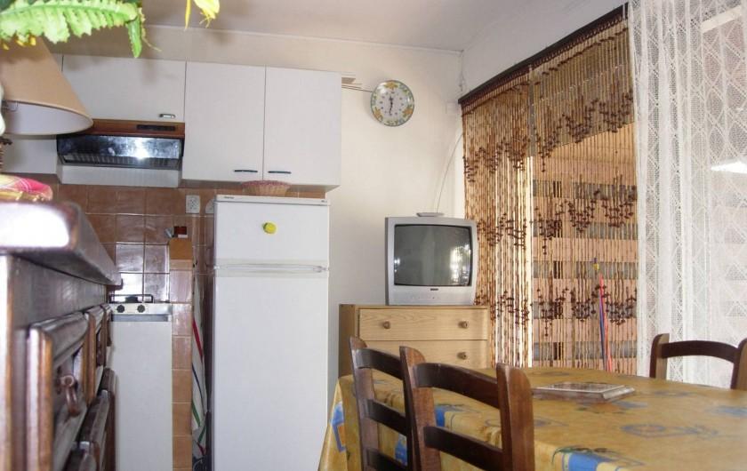 Location de vacances - Appartement à Le Cap d'Agde - Fin coin cuisine, et sortie extérieur