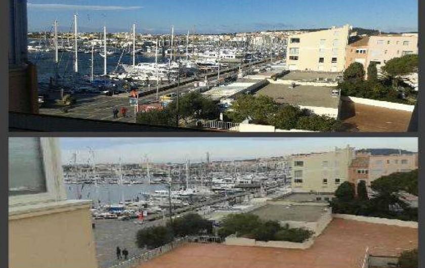 Location de vacances - Appartement à Agde - vue de la terrasse et de la salle à manger