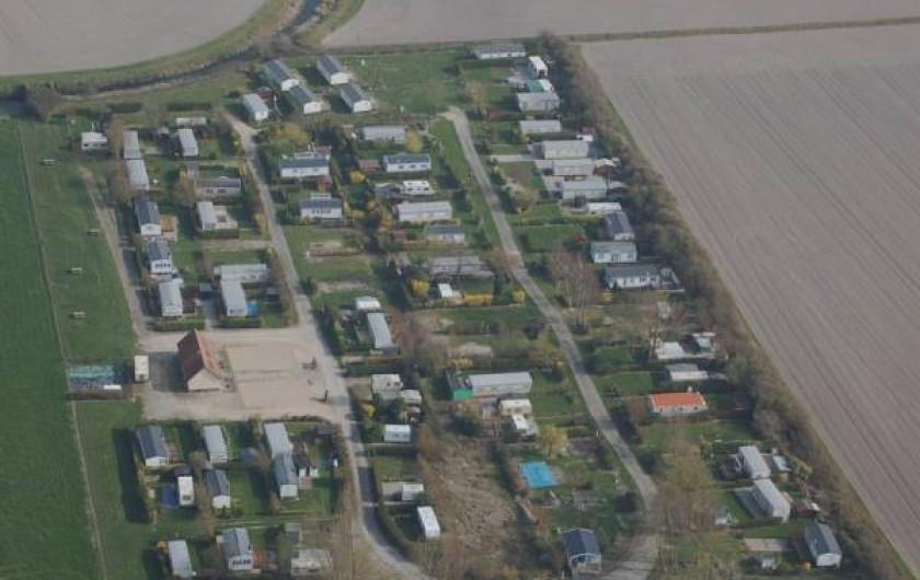 Location de vacances - Bungalow - Mobilhome à Le Crotoy - Vue aérienne