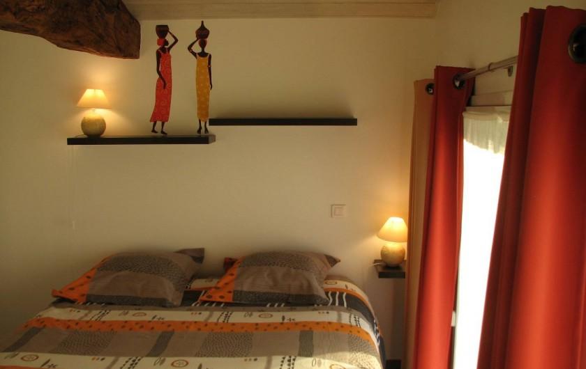 Location de vacances - Gîte à Les Clouzeaux - Chambre avec salle d'eau privative - Lit de 160 x 200 cm