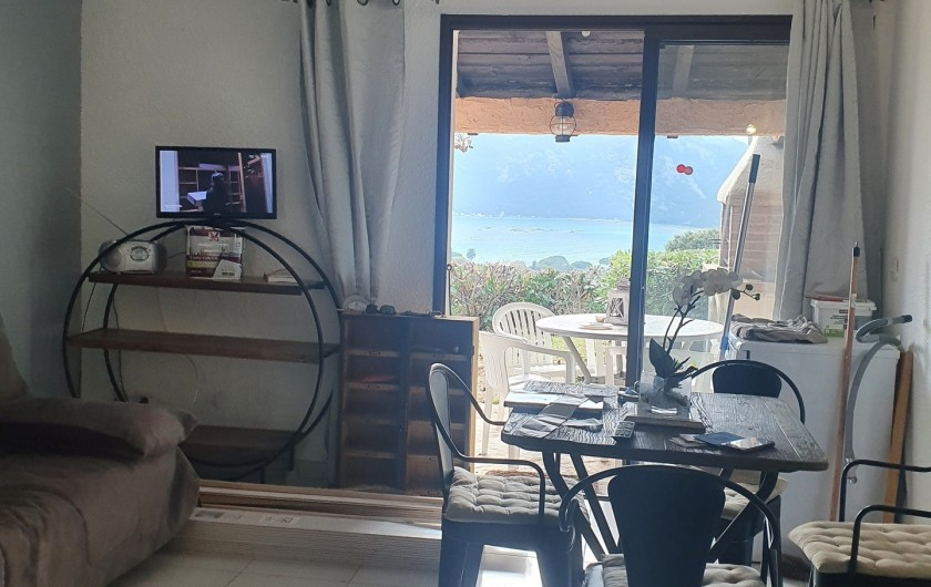 Location de vacances - Villa à Porto-Vecchio - Salon, TV, canapés convertibles