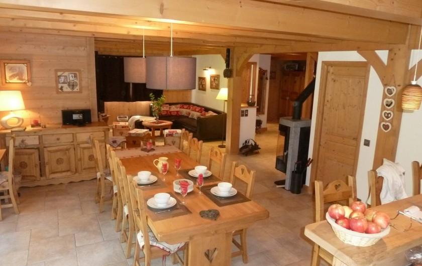 Location de vacances - Chalet à Megève - espace de vie