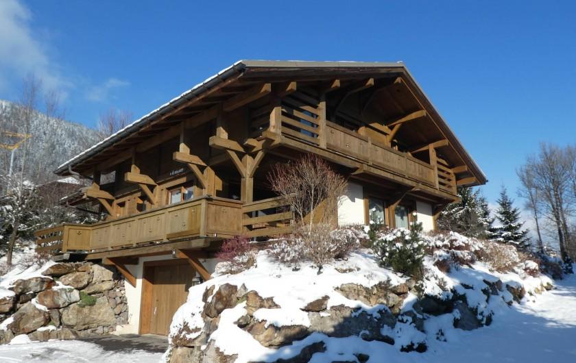 Location de vacances - Chalet à Megève - le Solaret en hiver