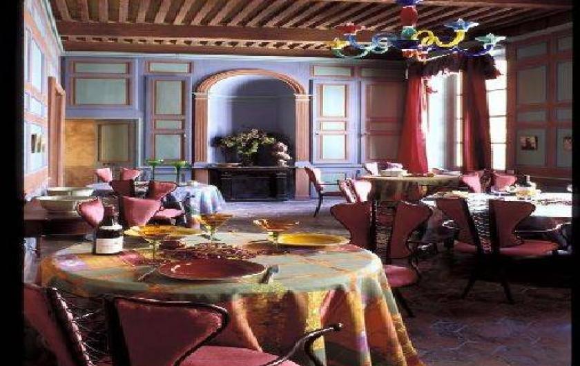Location de vacances - Château - Manoir à Bourg-Saint-Andéol - salle a manger