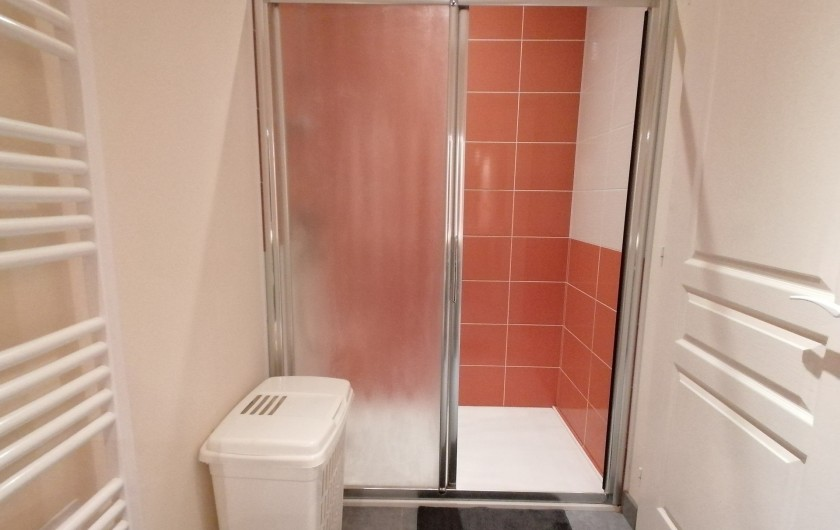 Location de vacances - Gîte à Pomeys - La douche italienne de cette salle d'eau.